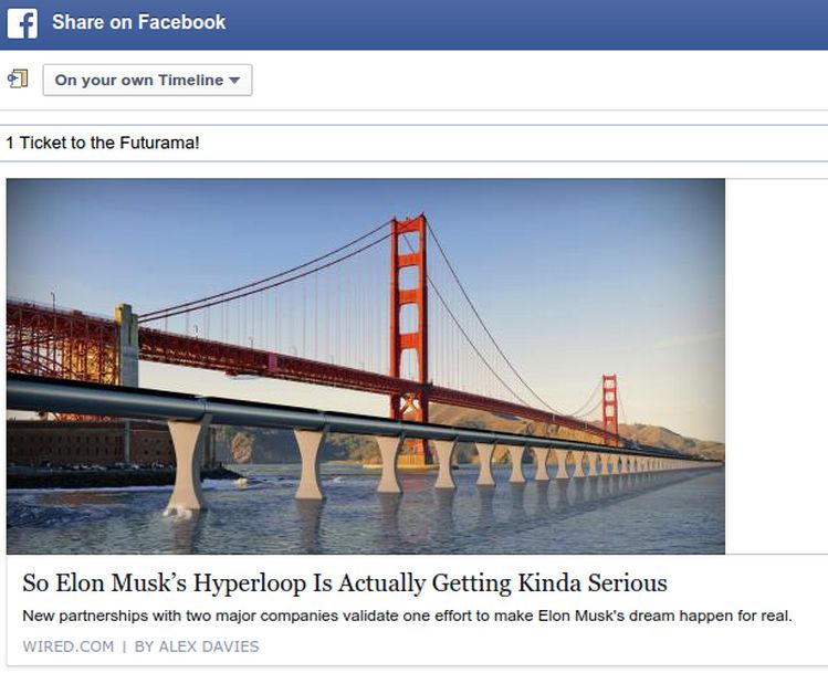 what to do after clicking fb share and getting the wrong website